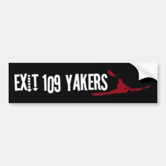 Pegatina de Yakers Bumber de la salida 109 Pegatina De Parachoque
