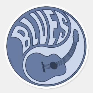 Pegatina de Yin de la guitarra de los azules