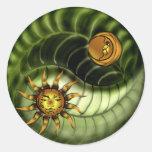 Pegatina de Yin Yang del Día de la Tierra