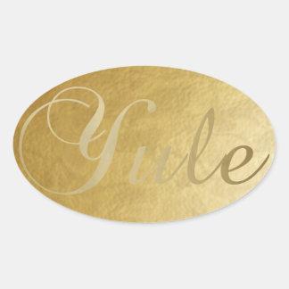 Pegatina de Yule del oro