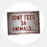 Pegatina de Zoe del gorila - no alimente los