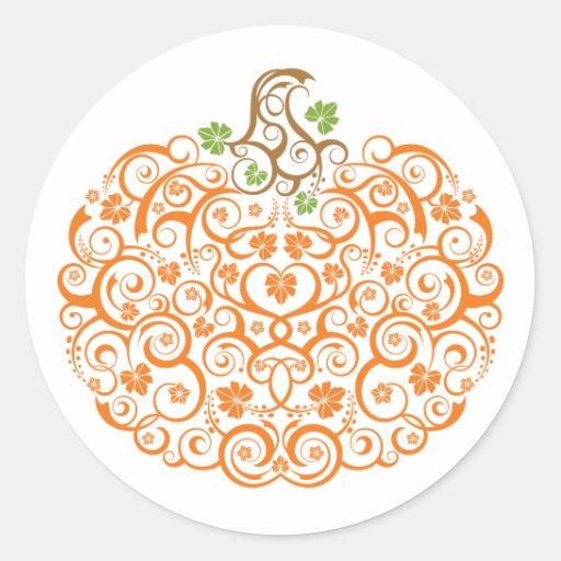 Pegatina decorativo de la calabaza de encaje
