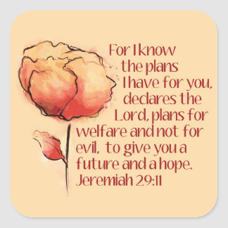 Pegatina del 29:11 de Jeremiah -- Para mí sé los