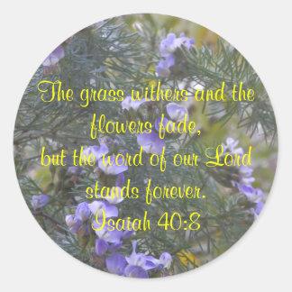Pegatina del 40:8 de Isaías