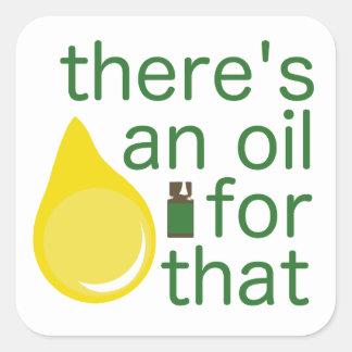 Pegatina del aceite esencial