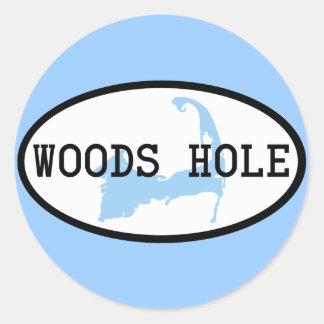 Pegatina del agujero de maderas