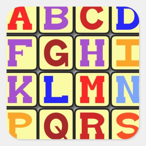 Pegatina del alfabeto