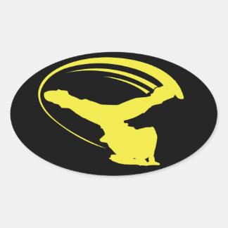 Pegatina del amarillo del estilo del molino de vie