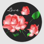 """Pegatina del """"amor color de rosa rosado"""""""
