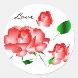 """Pegatina """"del amor color de rosa rosado de I"""""""