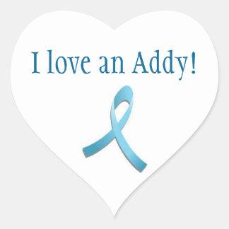 Pegatina del amor de Addison
