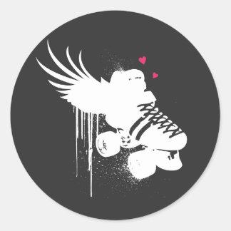 pegatina del amor de derby en negro
