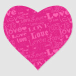 """Pegatina del """"amor"""" de la tarjeta del día de San V"""