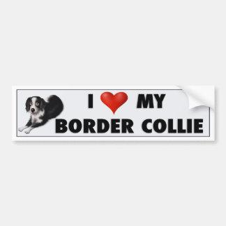 Pegatina del amor del border collie pegatina de parachoque