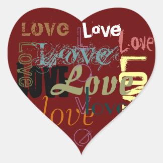 Pegatina del amor del corazón