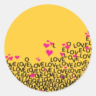 Pegatina del amor del el día de San Valentín