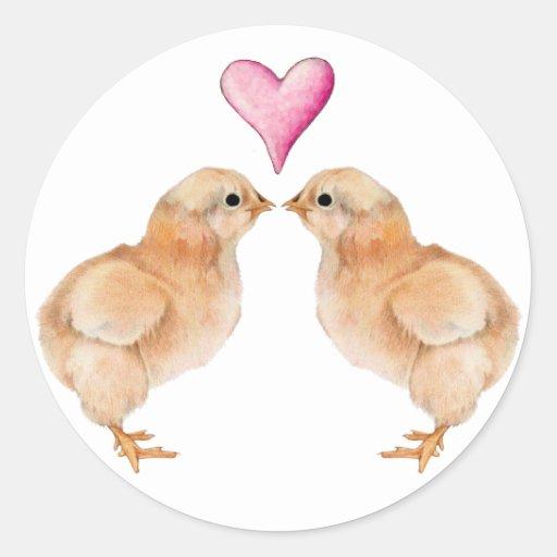 Pegatina del amor del polluelo del bebé