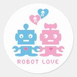 Pegatina del amor del robot
