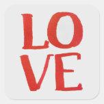 Pegatina del amor/etiqueta rojos y grises
