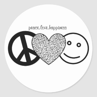 pegatina del amor y de la felicidad de la paz