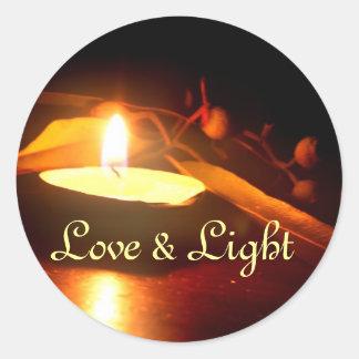 Pegatina del amor y de la luz