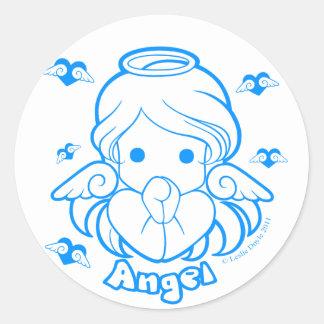 Pegatina del ángel de Chibi