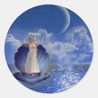 Pegatina del ángel del agua