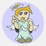 Pegatina del ángel del hombro