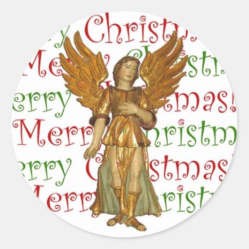 Pegatina del ángel del navidad