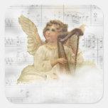 Pegatina del ángel del navidad del vintage