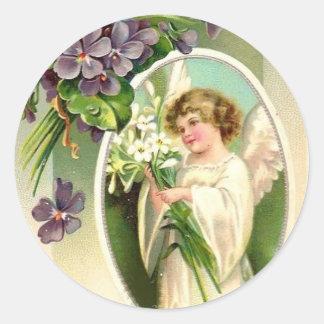 Pegatina del ángel del vintage