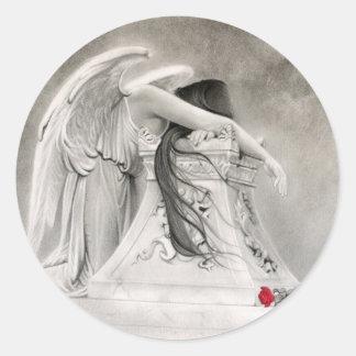 Pegatina del ángel que llora