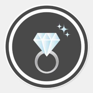 Pegatina del anillo de diamante