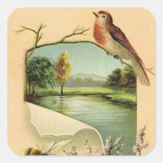 Pegatina del animal de la diversión del pájaro del