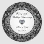 Pegatina del aniversario de boda de diamante
