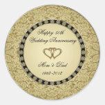Pegatina del aniversario de boda de oro