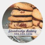 Pegatina del anuncio de las galletas de