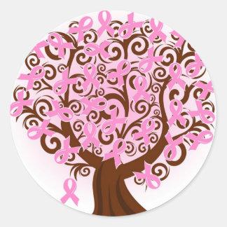 Pegatina del árbol de cinta del cáncer de pecho