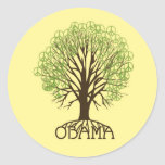 Pegatina del árbol de la paz de Obama