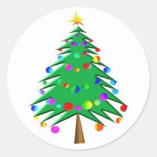 pegatina del árbol de navidad