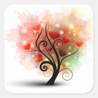 Pegatina del árbol del corazón
