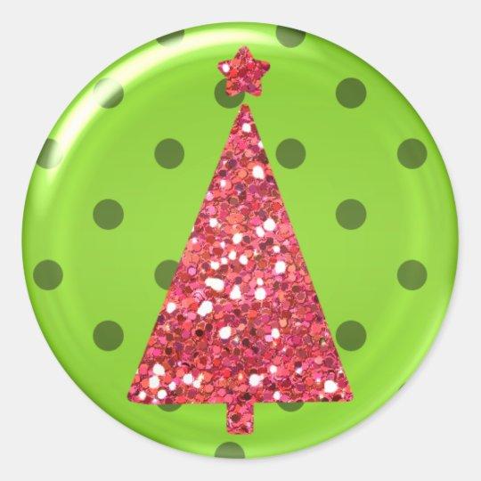 Pegatina del árbol del ornamento del navidad