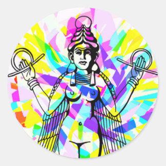 Pegatina del arco iris de Inanna