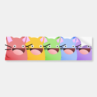 Pegatina del arco iris de la despedida del gatito pegatina de parachoque