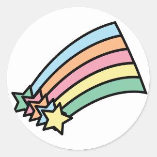 Pegatina del arco iris de la estrella fugaz