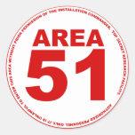 Pegatina del área 51