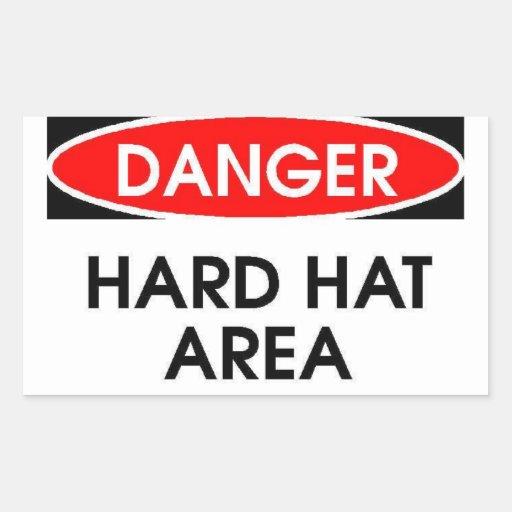 Pegatina del área del casco del peligro