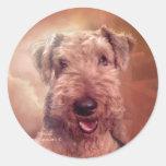Pegatina del arte de Airedale Terrier