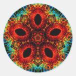 Pegatina del arte de la flor del caleidoscopio de