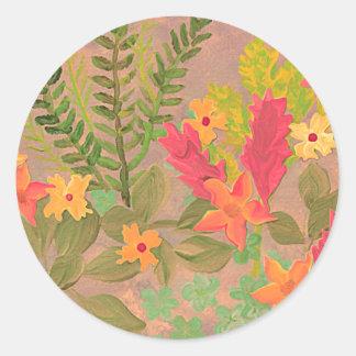 Pegatina del arte de las flores y de las hierbas